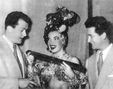 On tour with Carmen Miranda, Italy in 1953
